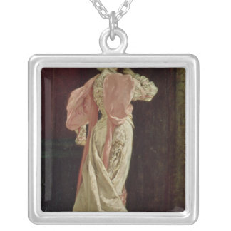 Sarah Bernhardt Square Pendant Necklace