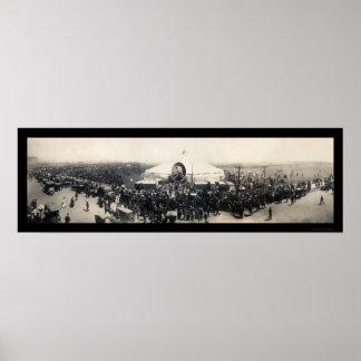 Sarah Bernhardt Tent Chicago Photo 1906 Posters