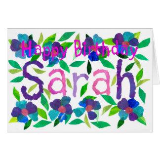 'Sarah' Birthday Card