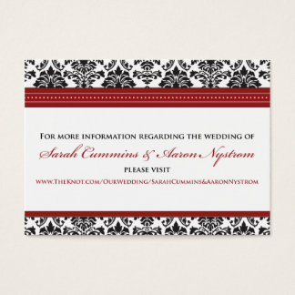 "::sarah:: Damask 3.5""x2.5"" Wedding Info Card"