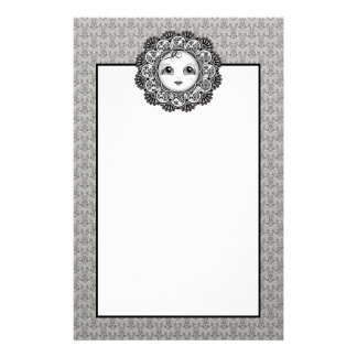 Sarah Flower Face Stationary Stationery Paper