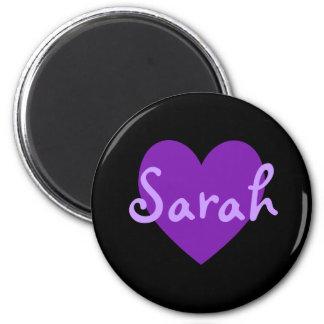 Sarah in Purple 6 Cm Round Magnet
