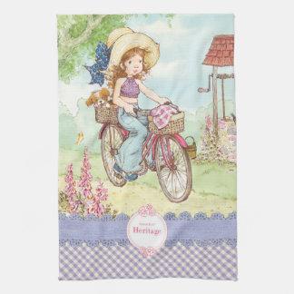 """Sarah Kay """"Bike Ride"""" Kitchen Towel"""