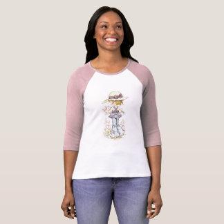 """Sarah Kay """"Camille"""" Raglan ¾ Sleeve Pink/White T-Shirt"""