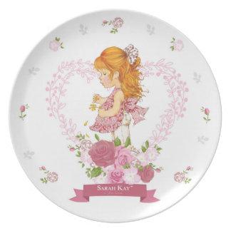 Sarah Kay Fleur Porcelain Plate #4 Magenta