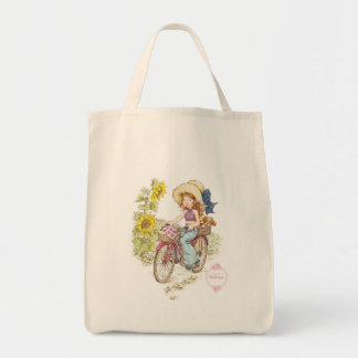 "Sarah Kay Heritage ""Bike Ride"" Grocery Tote Bag"