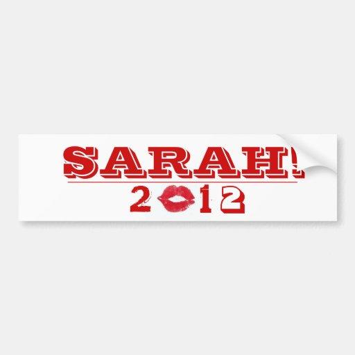 SARAH LIPSTICK KISS Bumper Sticker