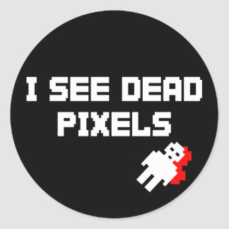 Sarah Marshall Dead Pixels Round Stickers