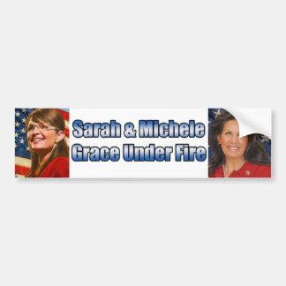 Sarah & Michele Grace Under Fire Bumper Sticker