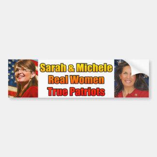 Sarah Michele Real Women True Patriots Bumper Sticker