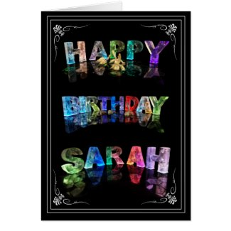 Sarah - Name in Lights greeting card (Photo)