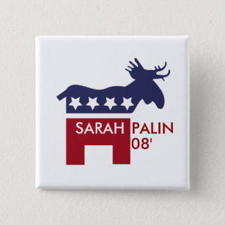 Sarah Palin 08' 15 Cm Square Badge