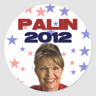 Sarah Palin 2012 Classic Round Sticker