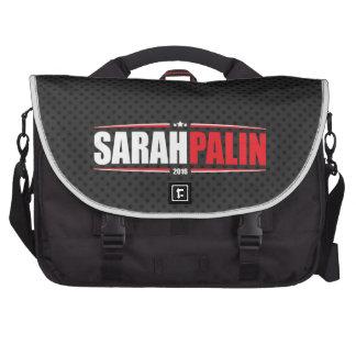Sarah Palin 2016 (Stars & Stripes - Black) Laptop Commuter Bag