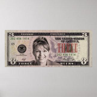 Sarah Palin 3 Bill Poster