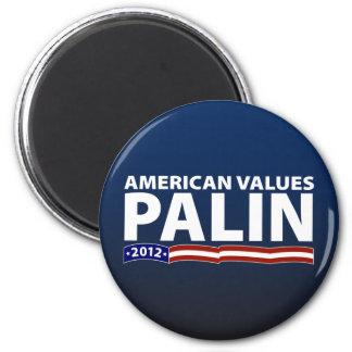 Sarah Palin American Values 6 Cm Round Magnet