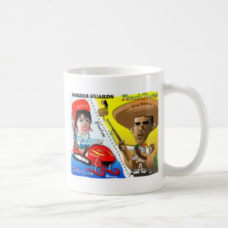 Sarah Palin and Obama Border Patrol Basic White Mug
