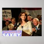 Sarah Palin at Chambliss Rally Poster