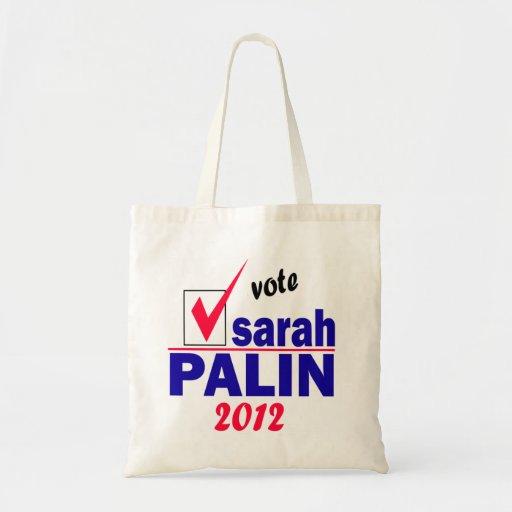 Sarah Palin Canvas Bags