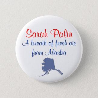 Sarah Palin Breath of Fresh Air Alaska Button