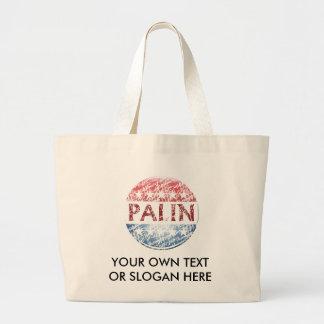 Sarah Palin Button Canvas Bag