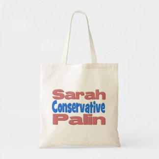 Sarah Palin Conservative Tote Bag - pink