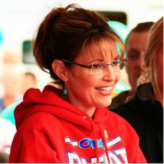 Sarah Palin Cut-Out Pin Photo Sculpture Badge