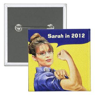 SARAH PALIN FOR PRESIDENT 2012 15 CM SQUARE BADGE