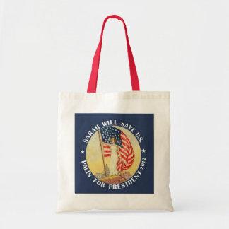 Sarah Palin for President 2012 Tote Bags
