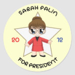 Sarah Palin For President Classic Round Sticker