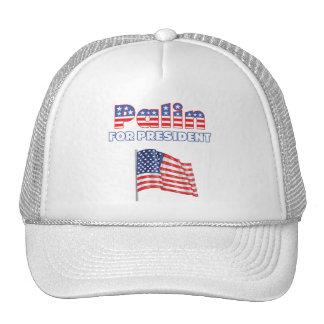 Sarah Palin for President Patriotic American Flag Mesh Hats
