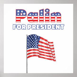 Sarah Palin for President Patriotic American Flag Posters