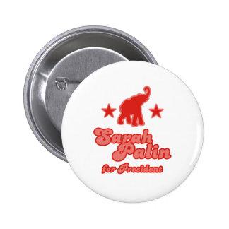 Sarah Palin for President Pinback Buttons