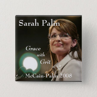 Sarah Palin, Grace, with Grit 15 Cm Square Badge