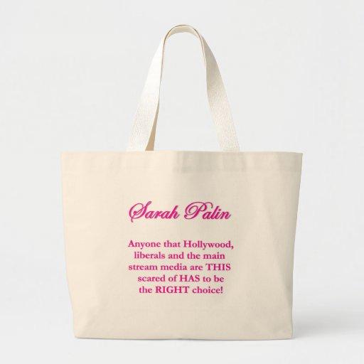 Sarah Palin - Hollywood Liberals & the MSM Canvas Bag