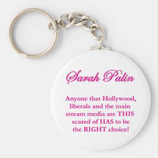 Sarah Palin - Hollywood Liberals & the MSM Key Chain