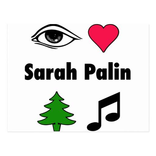 Sarah Palin Loves Country Music Postcards