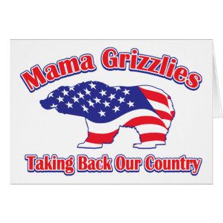 Sarah Palin Mama Grizzlies Greeting Card