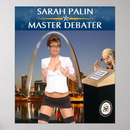 Sarah Palin - Master Debater Poster