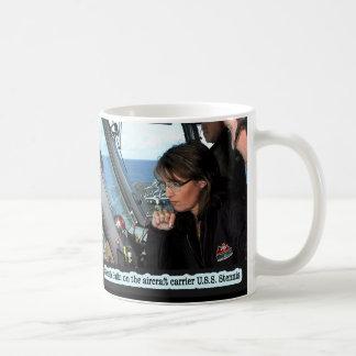 Sarah Palin On The U S S Stennis Coffee Mug