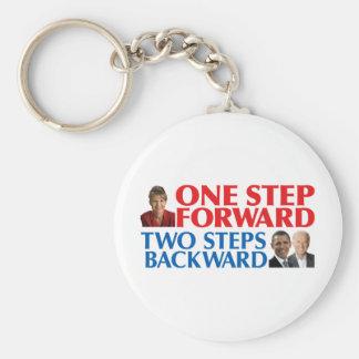 Sarah Palin One Step Forward Keychains