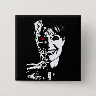 Sarah Palin - Palinator 15 Cm Square Badge