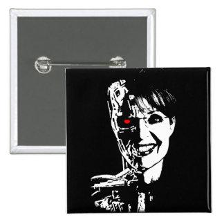 Sarah Palin - Palinator 15 Cm Square Badge