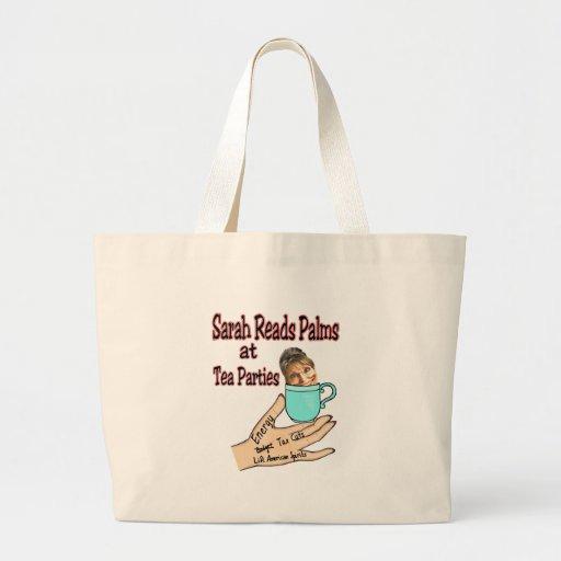 Sarah Palin Palm-Reader Canvas Bags
