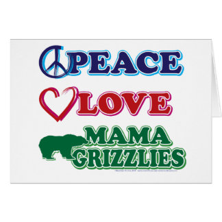 Sarah Palin/Peace Love Mama Grizzlies Greeting Card