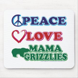 Sarah Palin Peace Love Mama Grizzlies Mousepads