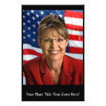 Sarah Palin Picture with Waving Flag