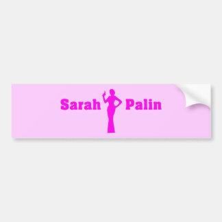 Sarah Palin Pink Bumper Sticker