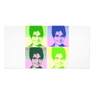 Sarah Palin Pop Art Personalized Photo Card