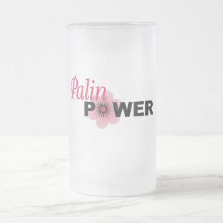 Sarah Palin Power Frosted Glass Mug